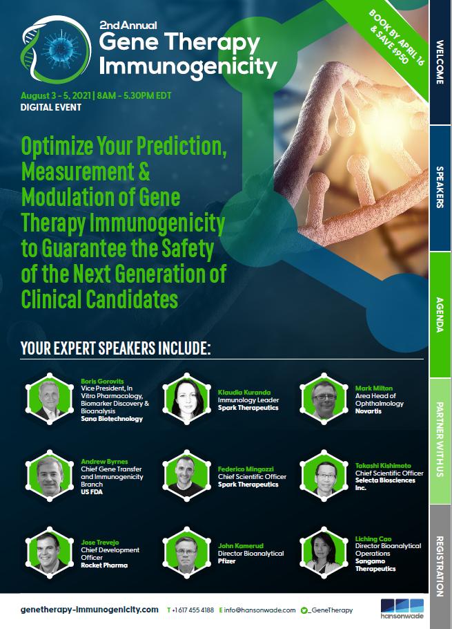 Gene Therapy Immunogenicity Brochure Cover